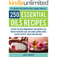 Essential oils recipes: The Top 250 Pure Aromatherapy and Essential Oils Recipes for Weight loss, Anti Aging, Natural Cures,Beauty and Natural Skin Care. ... book,reference guide for essential oils 3)