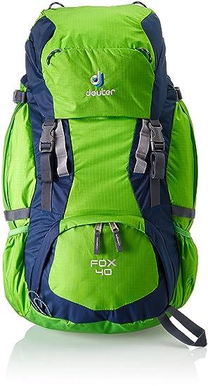 Deuter Fox Mochila, Unisex niños, Verde (Spring/Midnight), 40 l
