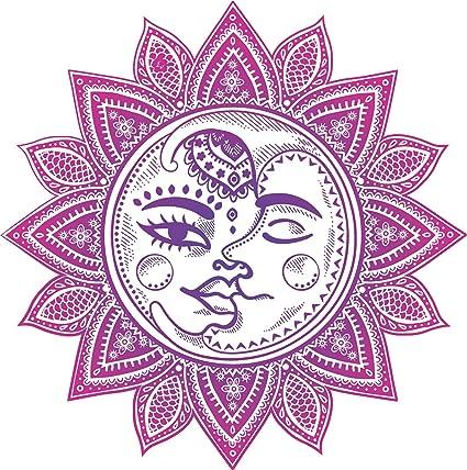 Amazon Pretty Pink Mandala Flower With Boho Sun Moon Cartoon