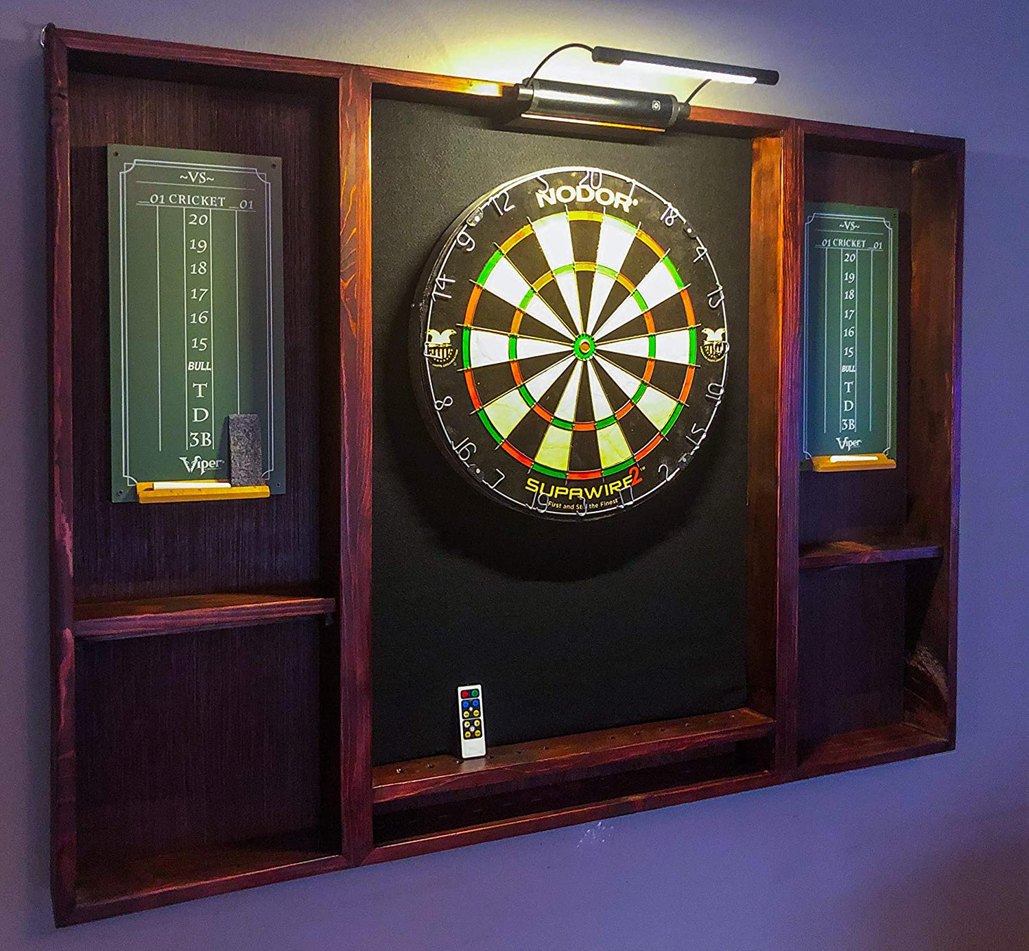 Amazon Com Wood Dartboard Cabinet Is A Great Addition To Any Game