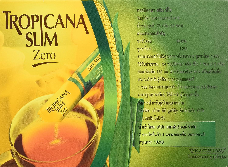 Tropicana Slim Sweetener Zero 75g 15g X 50 Sachets Amazonco Stevia Grocery