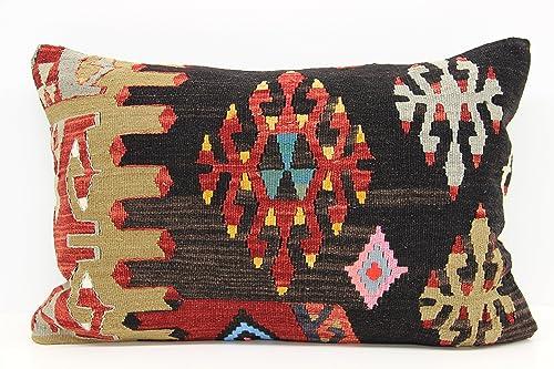 Turkish Handmade Kilim Pillow, Kilim Pillow 16x24inch 40x60 cm Decorative Kilim Pillow Anatolian Kilim Pillow Ethnic Kilim Pillow