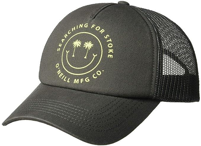 da51884b O'Neill Women's Stoked Screen Print Trucker Hat, Pavement One Size ...