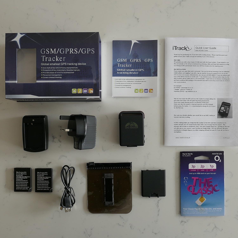 iTrack - Mini básicos GPS Tracker TK102 magnético Coche vehículo Personal Dispositivo de Seguimiento: Amazon.es: Electrónica