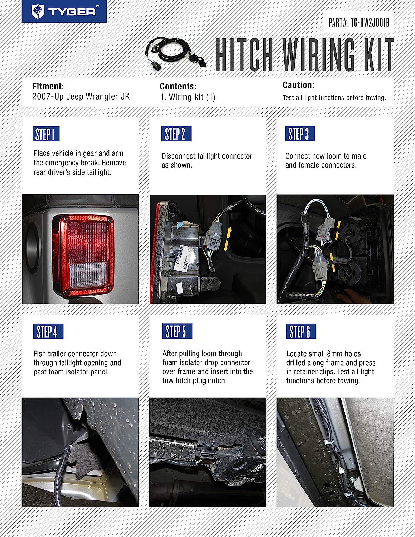 Automotive Tyger Auto TG-HW2J001B Electric Wiring Kit fits 2007 ...