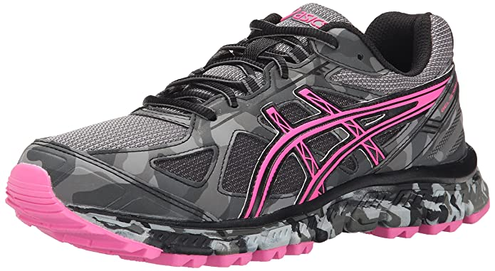 asics running shoes pink and grey