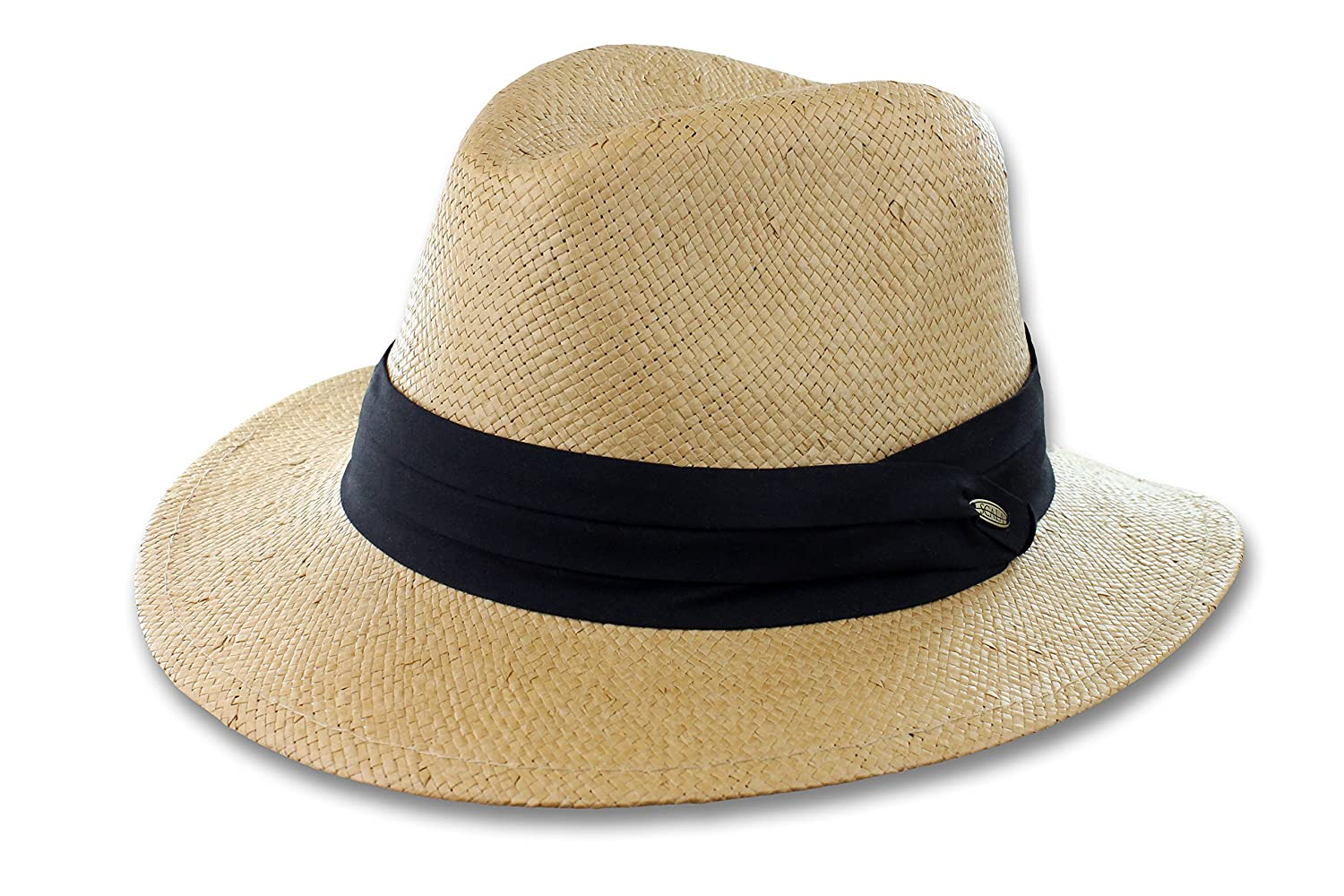 47bf1e0f Scala Men's Toyo Safari Hat with Black Trim at Amazon Men's Clothing store:
