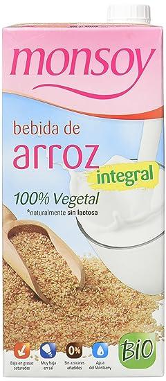 MONSOY Bebida de Arroz Integral Ecologica 1L [caja de 4 x 1L]