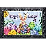 """Happy Easter Bunny Doormat Holiday Indoor Outdoor 18"""" x 30"""""""