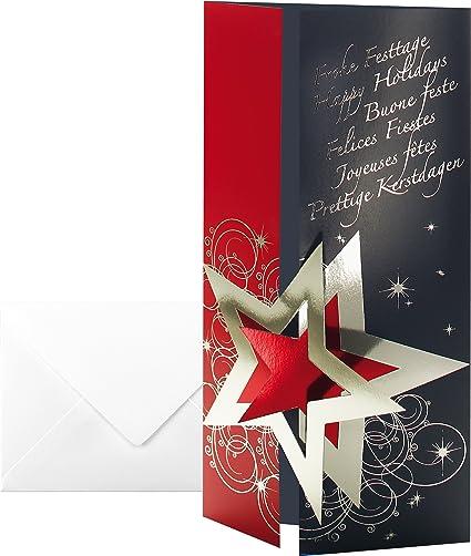 SIGEL DS012 10 Tarjetas de Navidad o tarjetas de felicidades ...