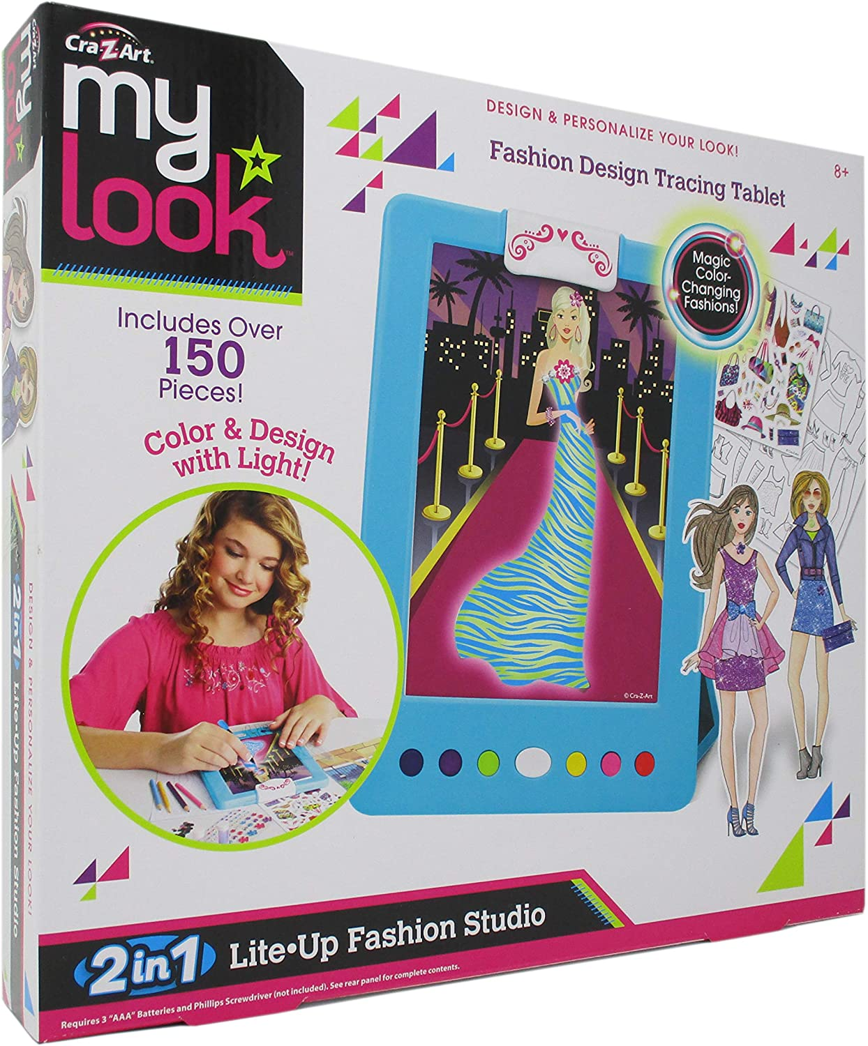 Amazon Com Cra Z Art My Look 2 In 1 Lite Up Fashion Studio Toys Games
