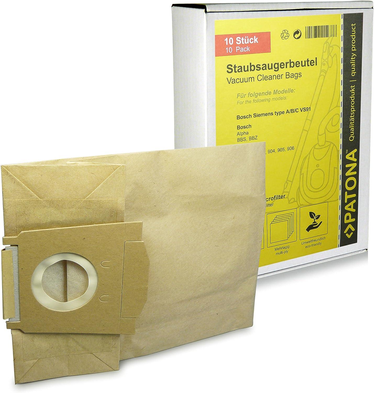 10x Aspirateur Sacs Papier Pour Siemens type A Siemens Type A C B