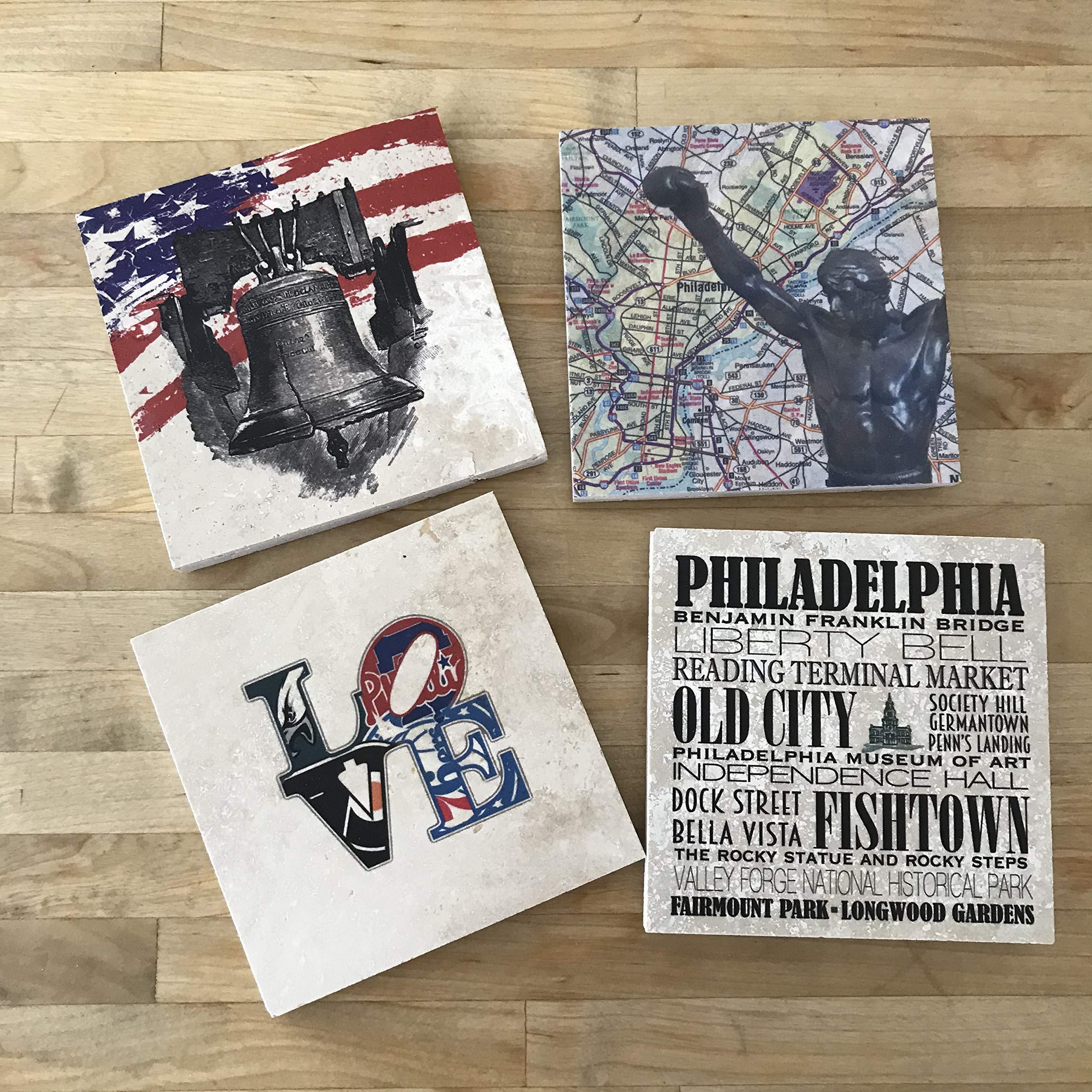 Philadelphia Coaster Set - Set of 4 by Dreamweaver Creations