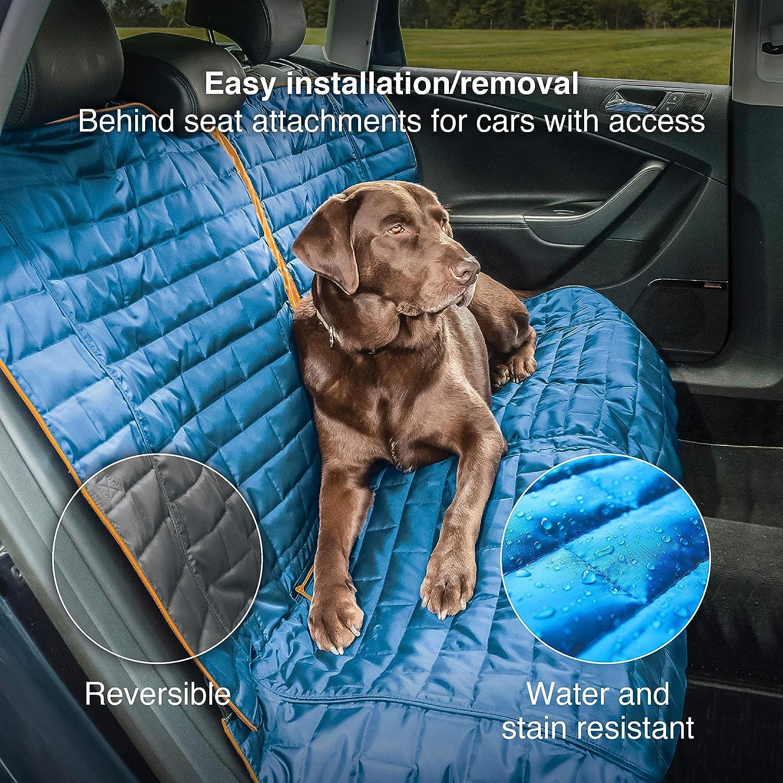 Kurgo Hundedecke Für Auto Rückbank Auto Sitzbezüge Für Hunde Und Andere Haustiere Im Loft Stil Blau Grau Haustier