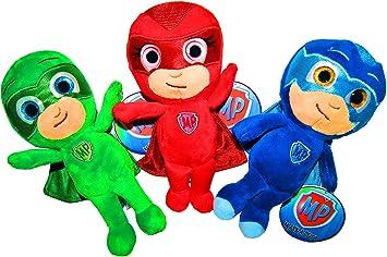 PJ Masks Plush, juguetes de peluche, original, 3 diferentes personajes disponibles! 22cm / 8.6