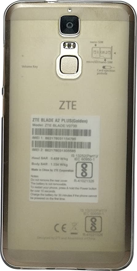 new product 6b3a3 a06e2 SBMS Premium Back Cover For Zte Blade A2 Plus (White)