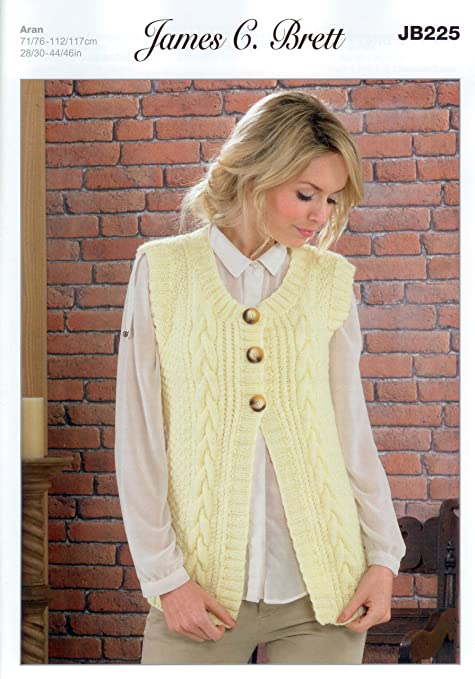 Ladies Waistcoat JB225 Knitting Pattern from James C Brett. Knit ...