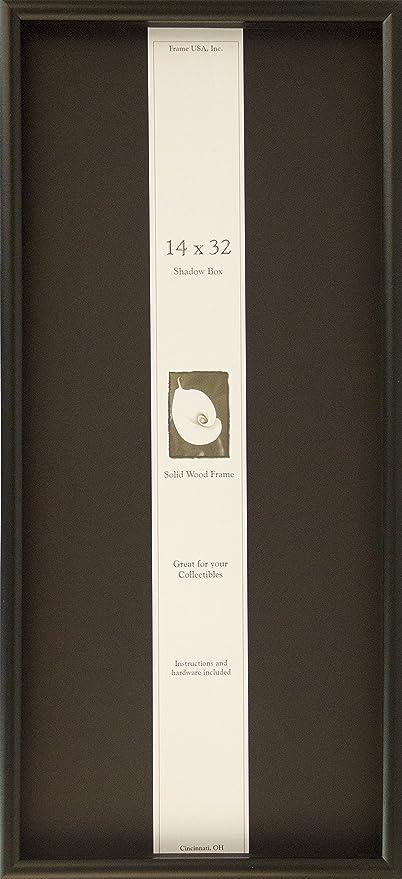 Amazon Com Frame Usa Shadow Box 14x32 Elite Series Black Shadow Box Display Case