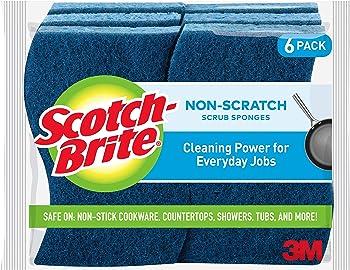 6-Pack Scotch-Brite Non-Scratch Scrub Sponge
