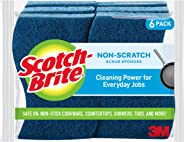 Scotch-Brite Non-Scratch Scrub Sponges, Lasts 50 percentage Longer than the Leading National Value Brand, 6 Scrub Sponges