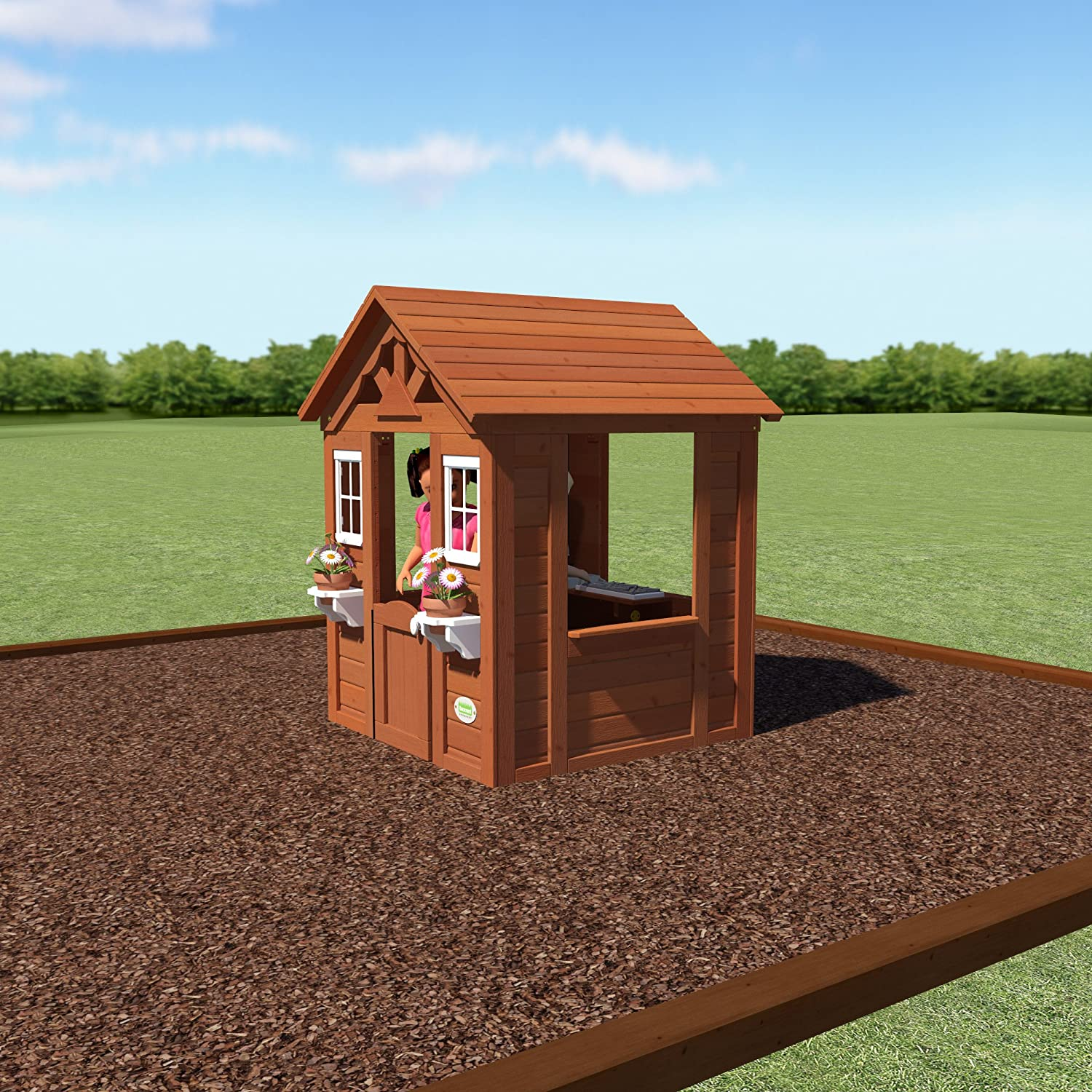 amazon com backyard discovery timberlake all cedar wood playhouse