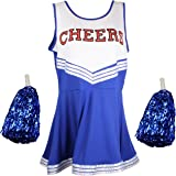Cherry-on-Top - Uniforme da cheerleader con pompon, vari colori e taglie disponibili