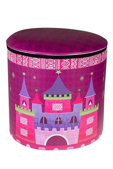 Amazon.com: Cute Pink Princess Castle & Carriage Collapsible Storage ...