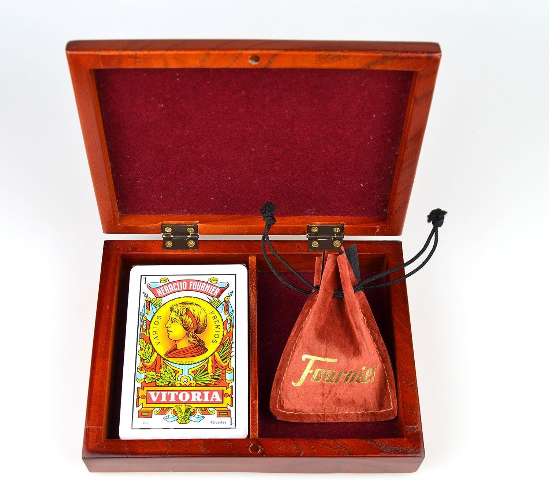 Fournier - Estuche Madera mus Cartas+amarracos: Amazon.es: Juguetes y juegos