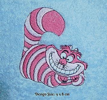 Diseño de gato de Cheshire (Alice in Wonderland) (432) - bordado personalizado toalla de baño de algodón: Amazon.es: Hogar