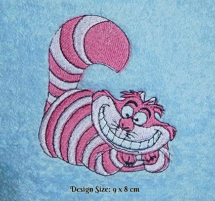 Diseño de gato de Cheshire (Alice in Wonderland) (432) – bordado personalizado