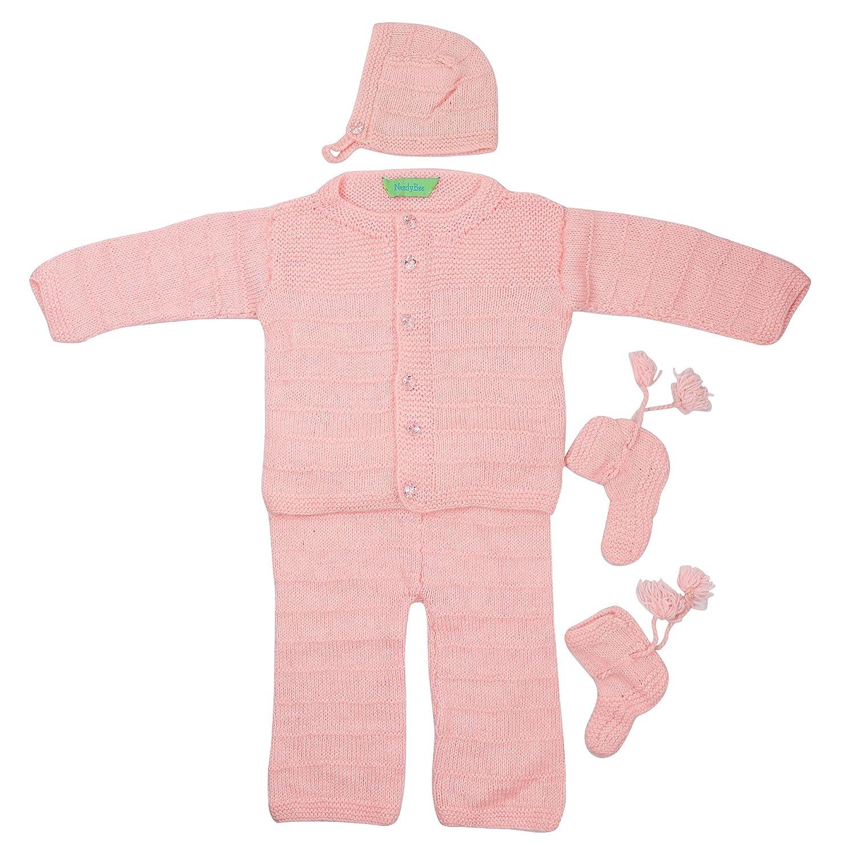 c79b23f2b NeedyBee Pink 5 Piece (Woolen Sweater   Lower