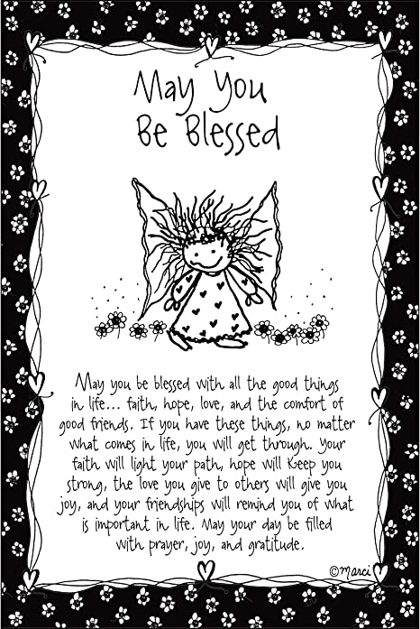 May You Be Blessed Wood Plaque Children Of The Inner Light By Marci Elegant Vertical Frame Wall Art Tabletop Decoration Easel Hanging Hook Measures 6