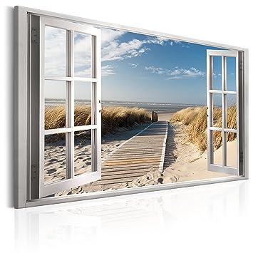 Murando   Bilder Fensterblick 90x60 Cm   Leinwandbild   1 TLG   Kunstdruck    Modern