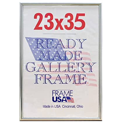 Amazon.com - Deluxe Poster Frame Frames, 23 x 35, Silver - Poster ...