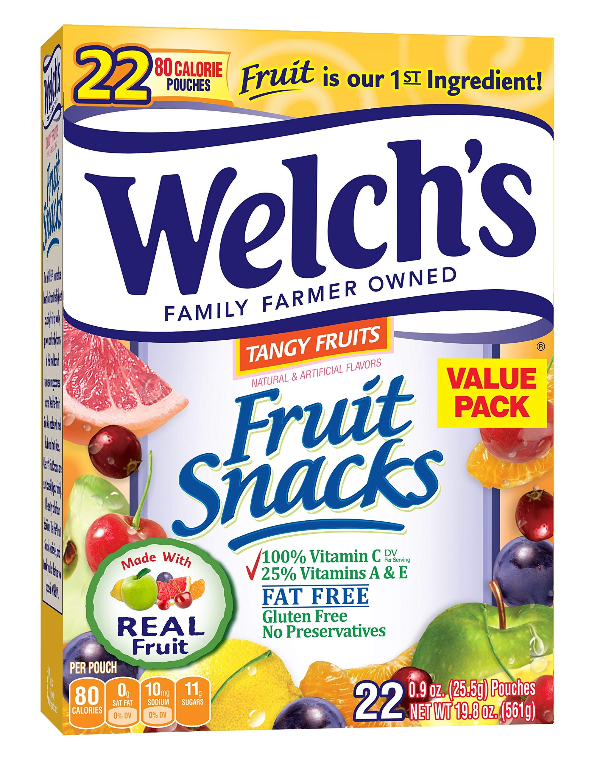 Welch's Fruit Snacks (Tangy Fruits (44 Count)) by Welch's (Image #1)