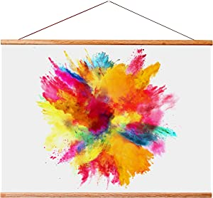 """Landmass 40"""" Wide Magnetic Poster Hanger Frame - 40x20 40x27 40x30 40x60 - Wood Frame for Posters, Prints, Photos, Pictures, Maps, Scrolls, and Artwork - Wall Hanging Wooden Frame"""