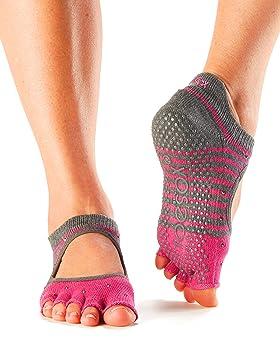 Toesox - Calcetines de Yoga sin Dedos de Bellarina, tamaño Mediano