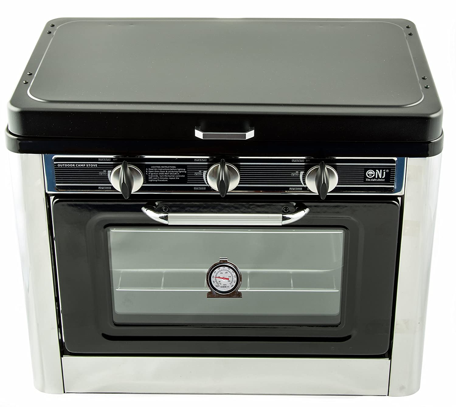 Oven Gas Stove Camping Gas Oven Hob 2 Burners Stainless Steel With Carry Case