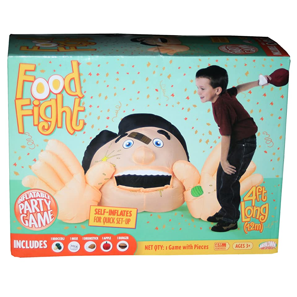 Gerson Gemmy Self Inflating Food Fight Carnival Party Game 4 Feet Wide New