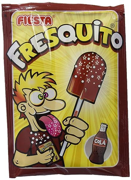 FIESTA Fresquito - Caramelo con palo en sobre con polvo acidulado ...