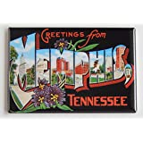 Greetings From Memphis Fridge Magnet (2 x 3 inches)