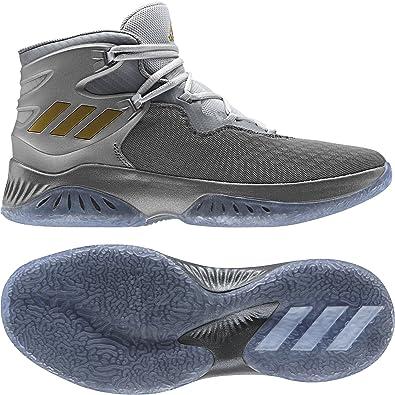 adidas Explosive Bounce, Chaussures de Basketball Mixte Adulte, Plusieurs Couleurs (Ftwbla/Gridos/Ftwbla), 45 1/3 EU