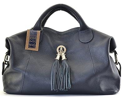 OH MY BAG Sac à main cuir grainé Chambord bleu fonce SOLDES  Amazon ... 93ed3db3f93e