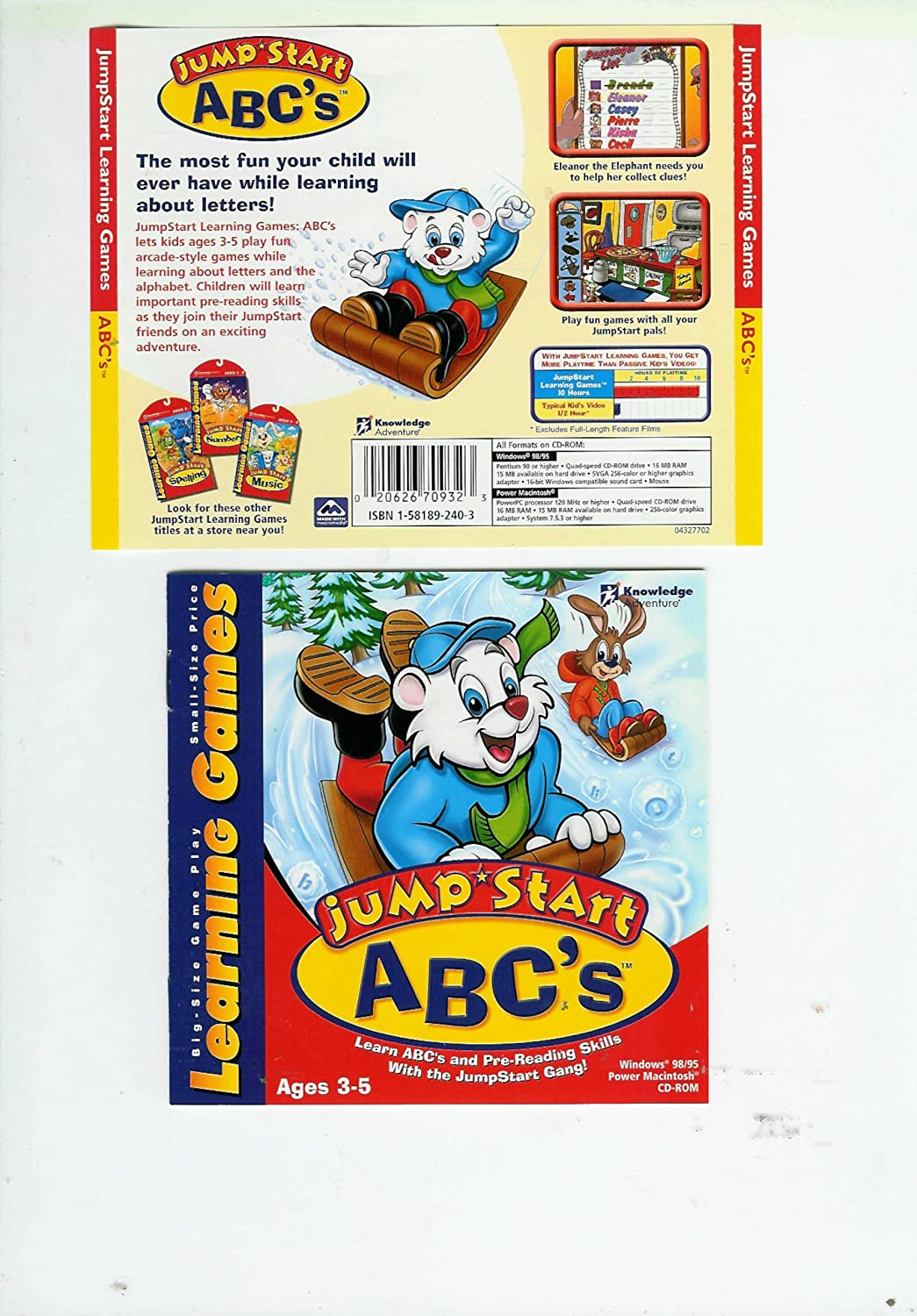 amazon com jumpstart abc u0027s learning games cd rom software