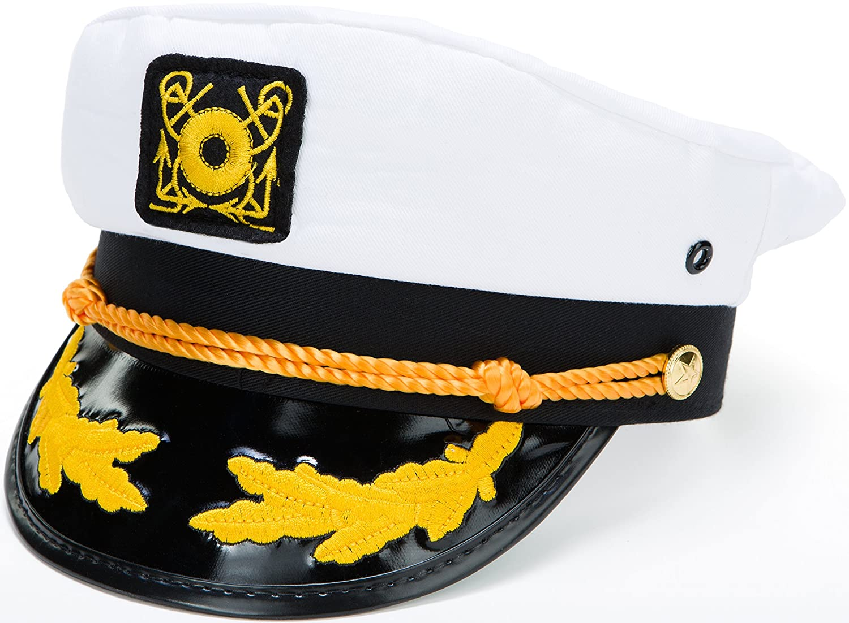 Kangaroo Adjustable Adult Captain's Yacht Cap, White 856522005128