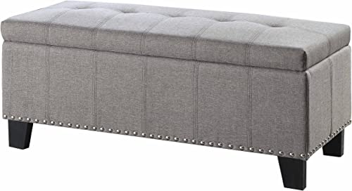Homelegance Storage Bench, Gray