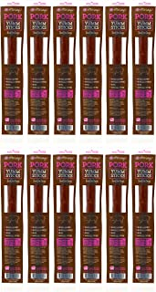 product image for Etta Says! Yumm Pork Meat Stick Treats for Dogs Pack of 12 – Made in The USA, Human Grade, No Added Hormones, No Nitrates or Nitrites, No MSG, Gluten-Free, Soy-Free