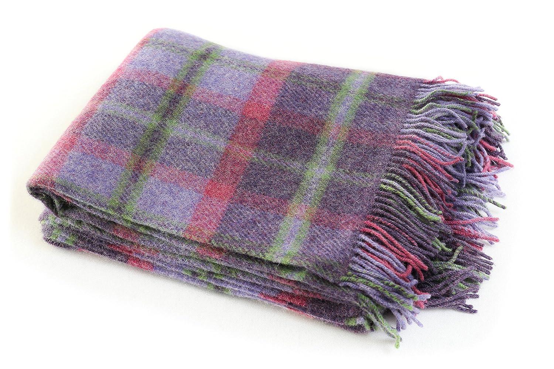 73d180f016 Amazon.com  John Hanly Plaid Wool Blanket Throw 100% Wool Soft 54