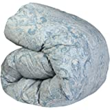 SNOWMAN 羽毛布団 シングル グースダウン90% ダウンパワー370dp 以上 2倍の洗浄度 7年長期保証 パワーアップ加工 ダウンプルーフ加工 洗浄 抗菌 防臭 防ダニ 掛け布団(シングル, スカイブルー系ペイズリー柄)…