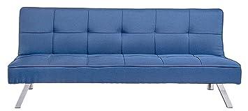 Divano Letto Blu.Enrico Coveri Contemporary Divano Letto Blu 3 Posti Elegante Con Funzione Letto In Tessuto Dimensioni 175 X 83 X 75 Cm